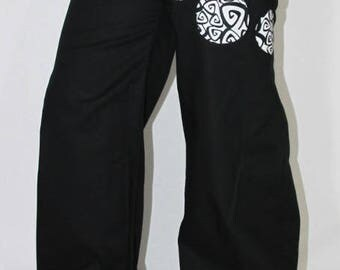 WIDE LEG PANTS POINT POINT SPIRAL