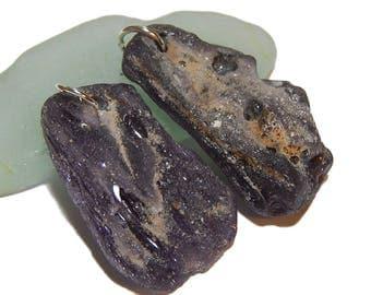Lake Superior Slag Glass, Purple Foundry glass, iron ore slag, purple DIY jewelry supplies, sparkly gems, natural upnorth lake treasures