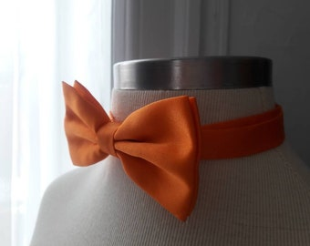 Orange adjustable bow tie