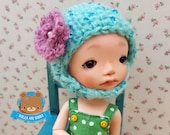 Mint hat with sequins and mohair rose for Lati Yellow, Mui Chan, Pukifee, IRREALDOLL