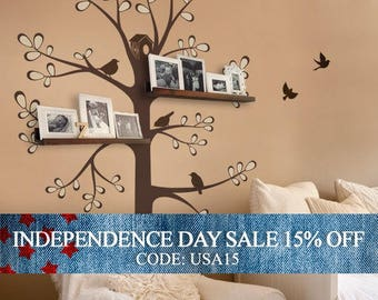 Independence Day Sale - Wall Decals Baby Nursery Decor: New Style Shelving Tree by Simple Shapes - Nursery Wall Sticker Decoration Tree
