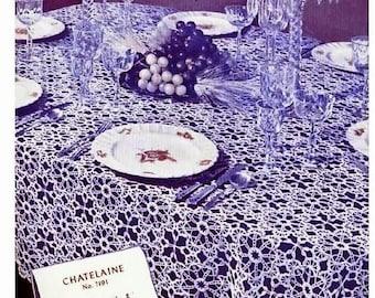 Crochet Pattern - Chatelaine Tablecloth vintage crochet -Thread crochet