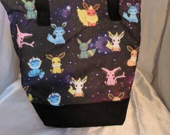 Eevee-lution Pokemon Insulated Zip-up Lunch bag - Flareon, Sylveon