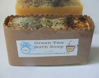 Green Tea Soap- Naturally Handcrafted-Vegan-FREE SHIPPING- Unisex