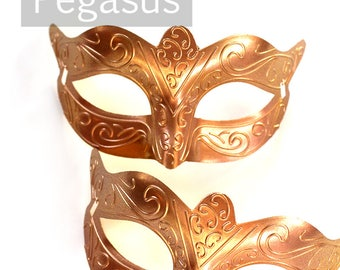 Phantom Bronze Venetian costume Mask base for decorating (M02) Plastic light Masquerade mask for costume balls, mardi gras, and Carnivale