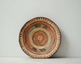 Vintage Basket Bowl, African Basket, Wall Basket, Boho Basket