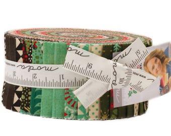 "Berry Merry Jelly Roll by Basic Grey for Moda Fabrics 30470JR 40 2.5"" x 42"" Fabric Strips"