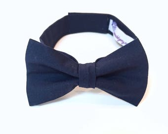 Navy Bow Tie navy blue bowtie Navy Boys Bowtie kids bowties Boys Bowties cotton bowtie ring bearer outfit Toddler Bow Tie and Suspenders Set
