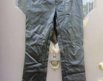 Vintage 80s  Tripp NYC  pvc black pleather  Reptile look   jean pants  size..5
