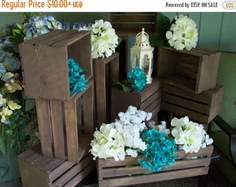 PICK ME SALE rustic flower box centerpiece , Wooden Crates ,Rustic wedding , wedding reception , table centerpiece , rustic home decor , wed