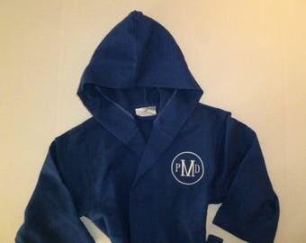Monogram Robe Personalized Robe Kids Robe All Cotton Robe Monogram Robe Childs Robe Custom Embroidered