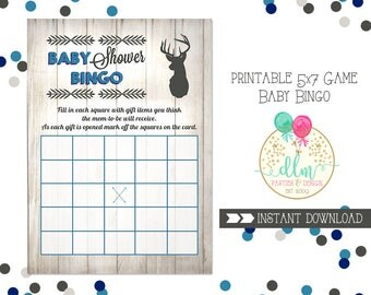 Baby Shower Game, Baby Bingo, Printable Baby Shower Game, Little Buck Baby Shower, Hunting Baby Shower, INSTANT DOWNLOAD