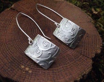 Wrought Iron Sterling Earrings