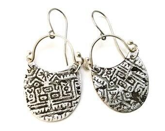 Tribal Earrings, Relic Earrings, Rustic Earrings, Aztec Earrings, Dangle Earrings, boho earring, handmade Earrings