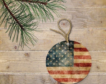 USA Flag Christmas Ornament, USA Flag, USA, Christmas Ornament, American Flag, American, Stars and Stripe, Vintage