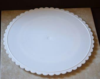 Trim n Turn Cake Stand/Wilton Cake Stand/Cake Decorating Tool/White Cake Stand/Plastic Cake Stand/Cake Turntable/2103-2518/1990