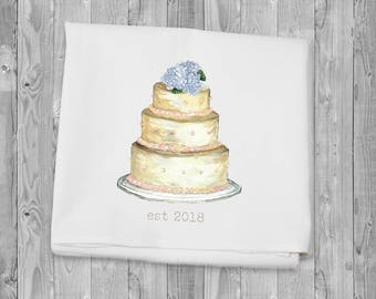Flour Sack Towel - Wedding Cake est. 2108  for kitchen