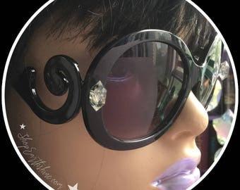 Crystal Sunglasses, Herkimer Diamond Spiral Sunglasses