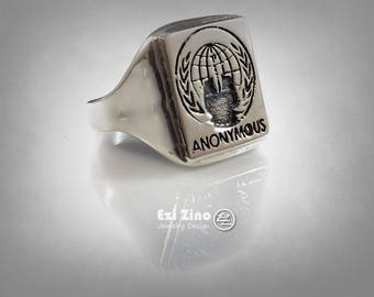Anonymous Ring Solid Sterling Silver 925 By Ezi Zino