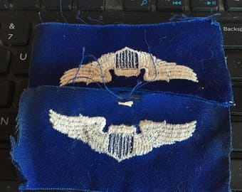 Air Force wings cloth patch to be sewn to uniform 1960's vietnam