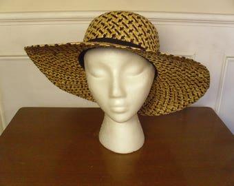 Vintage 1960's  Straw Hat