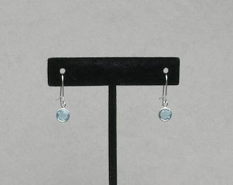March Birthstone- Aquamarine Drop Earrings