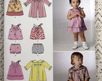 ON SALE Simplicity 2668, Baby Dress, Top, Panties and Coat Sewing Pattern, Infant Sewing Pattern, Baby Size XXS, Xs, S, M, L, Uncut