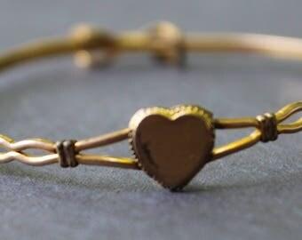 Gold Filled Child's Heart Engravable Bracelet