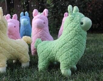 Green Plush Llama