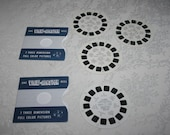 """RESERVED FOR KEN -Vintage View Master Reels Set of Three 3 """" Your United Nations New York """" 1950s 1955, 1 Monticello, Thomas Jefferson Reel"""