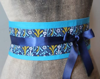 OBI belt blue and yellow