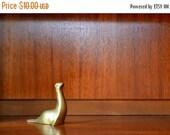 CIJ SALE 25% OFF Sale vintage brass seal figurine