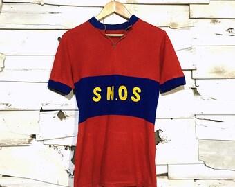 Vintage 1960's European Cycling Jersey Shirt - XS