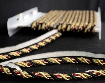 1034T 9548 Black Red Gold Trimland Fabric