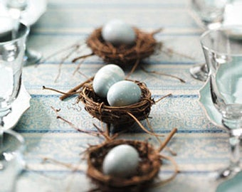 Sample - Vine Birds Nest Wedding Party Favors Decorations - Great for Wedding Crafts - Place card Escort Cards