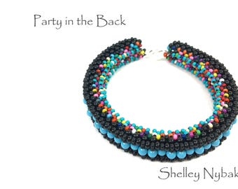 Party in the Back Bracelet DIY Kit  -  Multi-Mix Turquoise Pearls