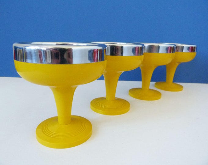 1970s vintage sundae dishes ice cream bowls italian