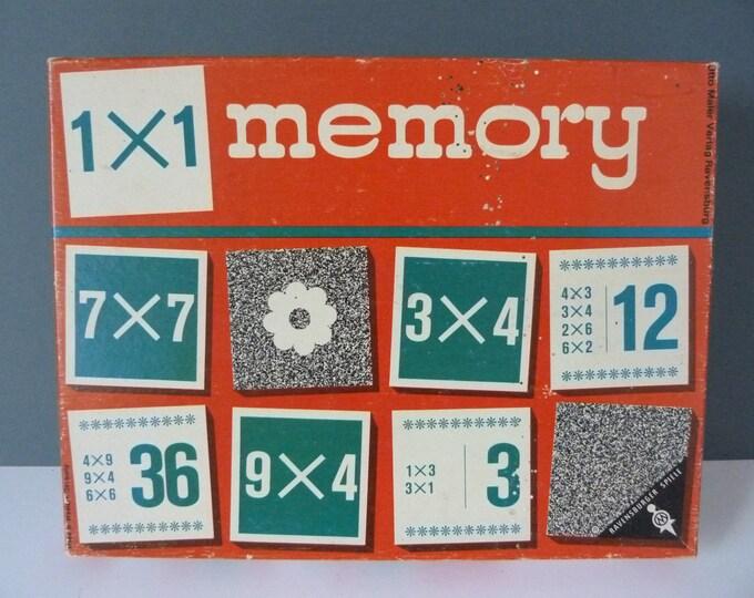 1x1 memory game multiplication 1969 Ravensburger