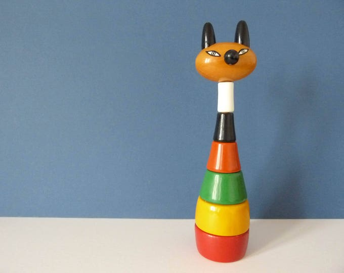 Vintage Kouvalias cat stacking tower toy