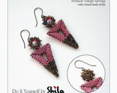 Bermuda Triangle Earrings Step by step INSTANT download Pdf beading PATTERN #51