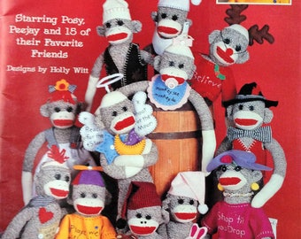 17 Sock Monkey Pattern Book Including Their Costume Patterns