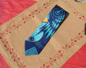 Vintage Aviation Africa 96 Necktie - Very Nice