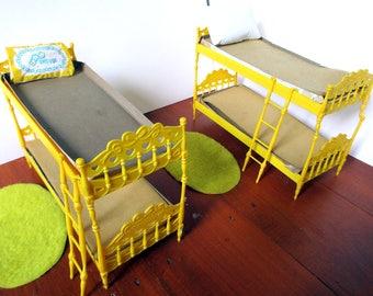 Vintage Barbie 1964 Mattel Skipper 'N Scooter Bunk Beds
