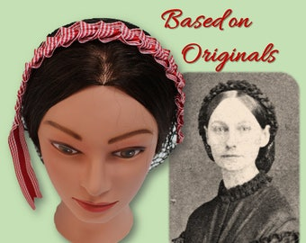 Civil War Hairnet - Vintage Ribbon - Affordable Elegance, Choose Your Net