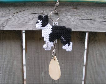 Boston Terrier crate tag dog art decorative display hang anywhere, Magnet option