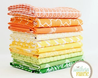 "Citrus - Half Yard Bundle - 10 - 18""x44"" Cuts - by Mixed Designers Quilt Fabric"