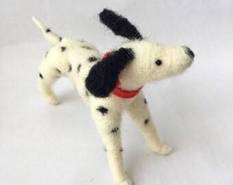 Needle Felted Dalmatian Dog