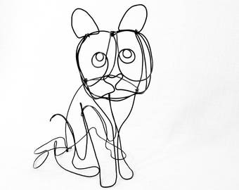 Cat Wire Sculpture, Wire Sculpture, Cat Art, 551136026
