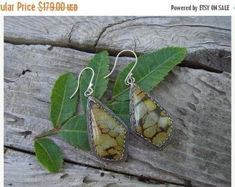 ON SALE Beautiful turquoise earrings in sterling silver