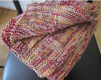 Christmas in July knit fall colors throw/baby blanket